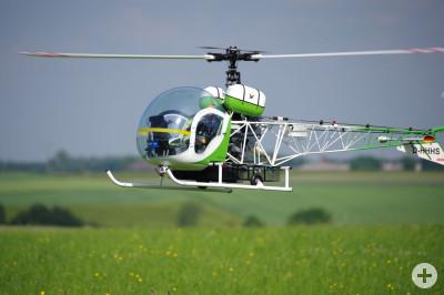 Bell 47GIII im Anflug