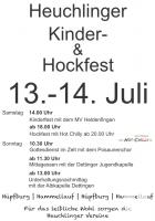 Kinder- und Hockfest Heuchlingen 2019